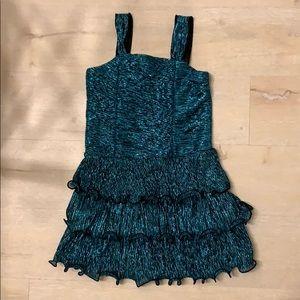 Big girl Christmas party glitter dress 6